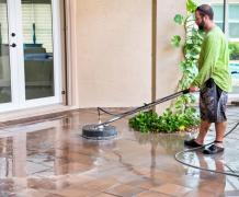 Pavers, driveways, concrete and sculptured surface cleaning